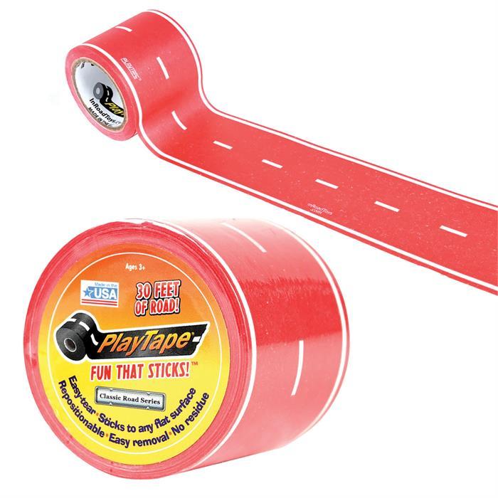 PlayTape Klasik Yol Serisi 30ft x 2inç - Kırmızı