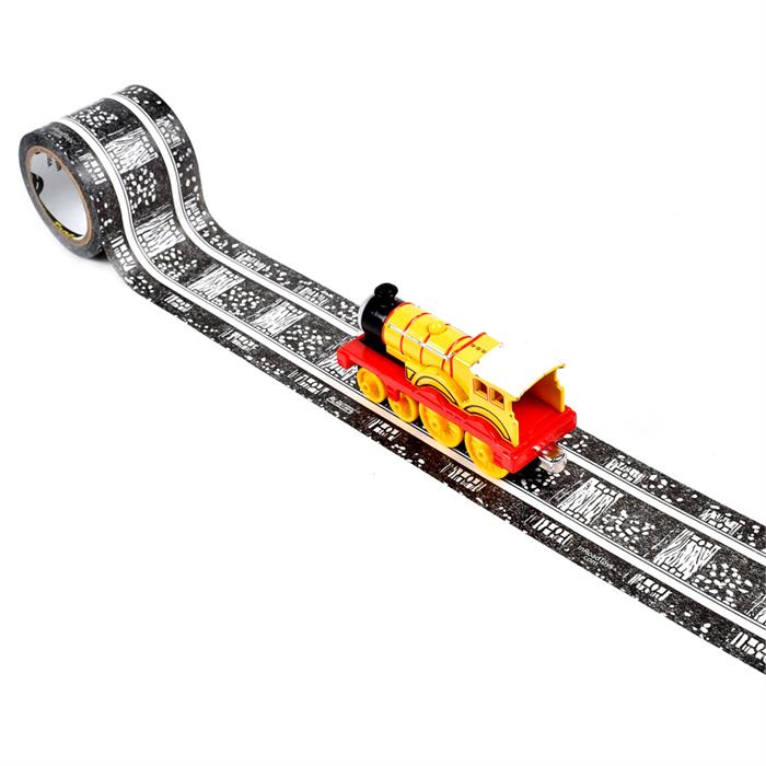 PlayTape Klasik Demiryolu Serisi 30ft x 2inç - Siyah
