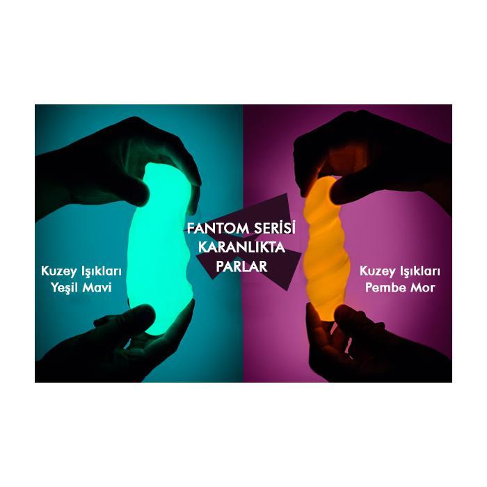 Crazy Aaron's Thinking Putty Kuzey Işıkları Artic Flare (Pembe Mor) + Işıklı Anahtarlık Hediyeli
