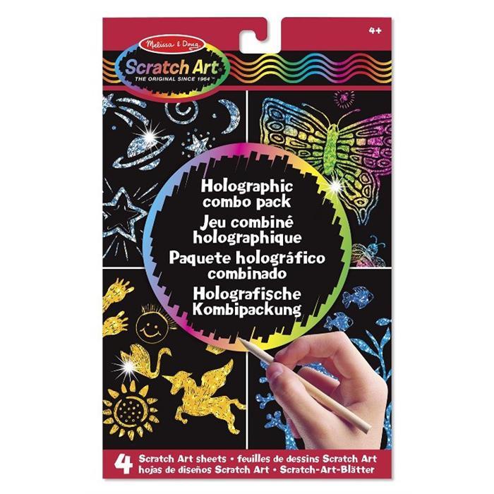 Melissa and Doug Kazıma Sanatı - Renkleri Ortaya Çıkar - Holografik Kombo Paket