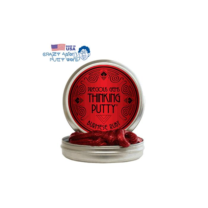 Crazy Aaron's Thinking Putty Burmase Ruby