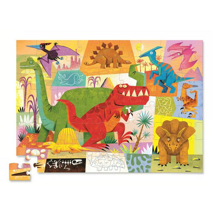 Crocodile Creek Minik Şekilli Kutu Puzzle - Dinazor