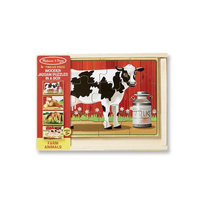 Melissa and Doug Ahşap 12x4 Yapboz Seti - Çiftlik Hayvanları
