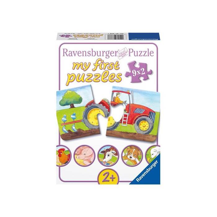 Ravensburger İlk Puzzle - Çiftlik - 9x2PPuzzle