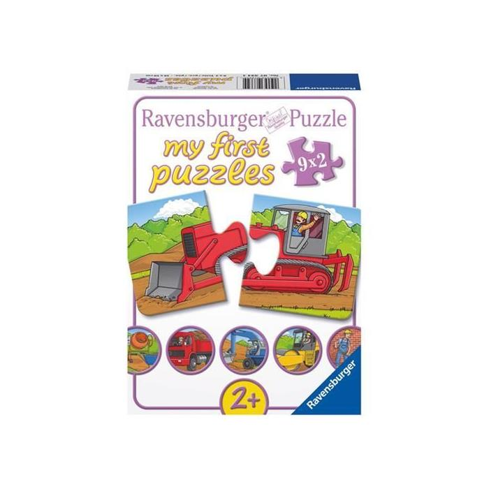 Ravensburger İlk Puzzle - Ağır Vasıtalar - 9x2PPuzzle