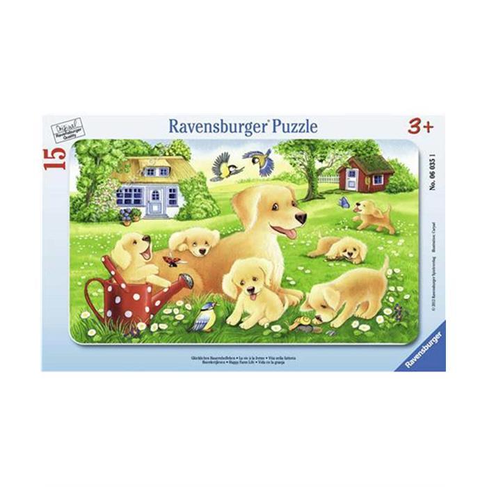 Ravensburger Köpek Yavruları - 15 Parça K. Çerçeveli
