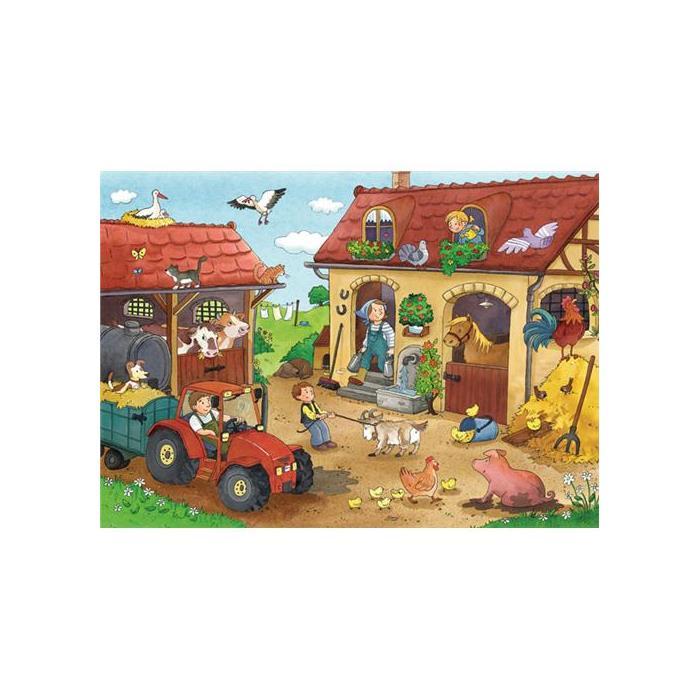 Ravensburger Çiftlikte Çalışmak - 2x12PPuzzle
