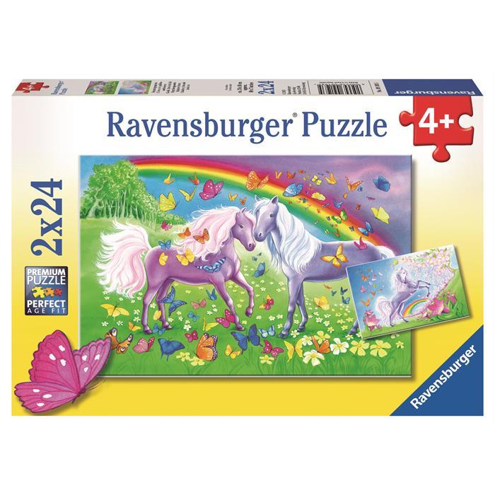 Ravensburger Gökkuşağı Atları - 2x24PPuzzle