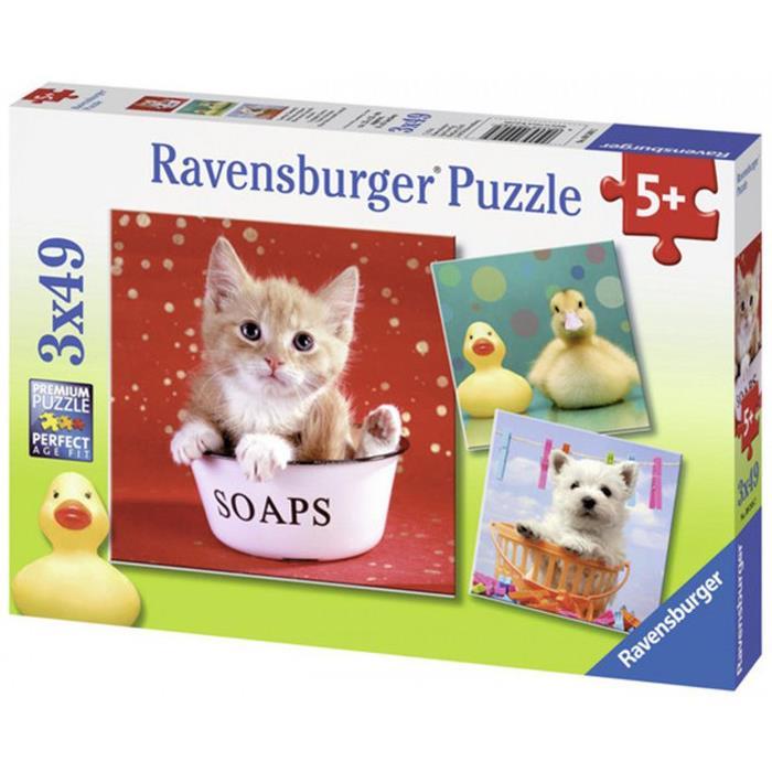 Ravensburger Komik Hayvanlar - 3x49 Parçalı