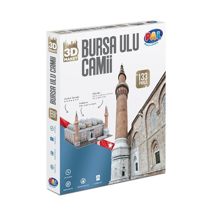 PAL Bursa Ulu Camii 3D Puzzle