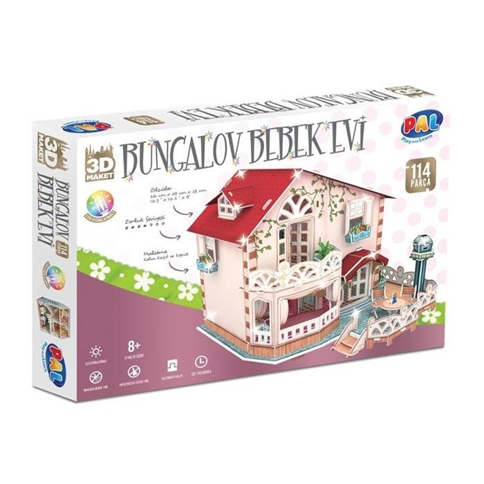 PAL Bungalov Bebek Evi 3D Puzzle