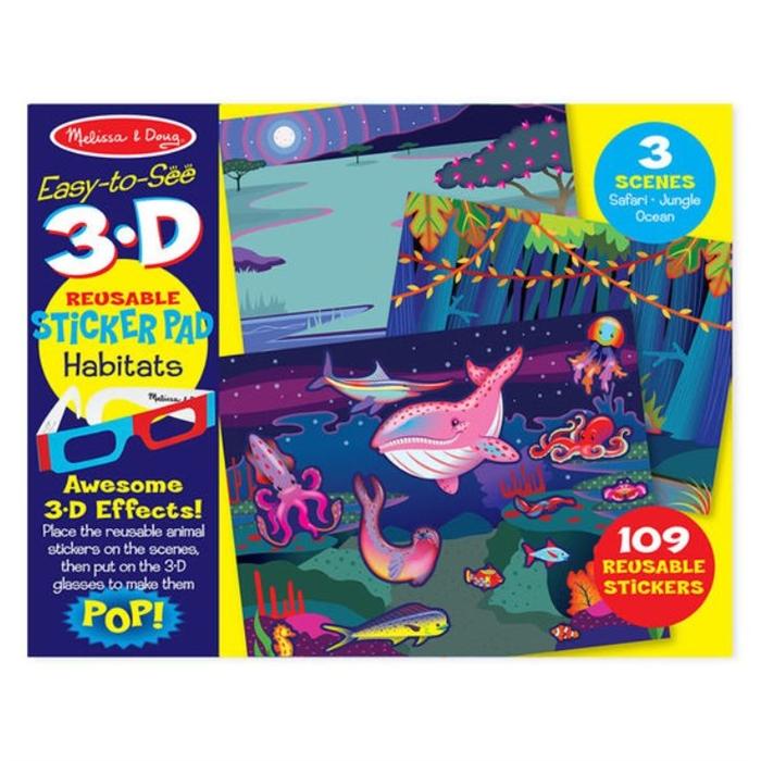 Melissa and Doug 3D Tak Çıkar Çıkartma Kitabı - Hayvanlar