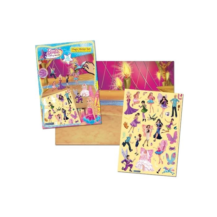 Uniset Uniset Sihirli Çıkartma Seti - Barbie