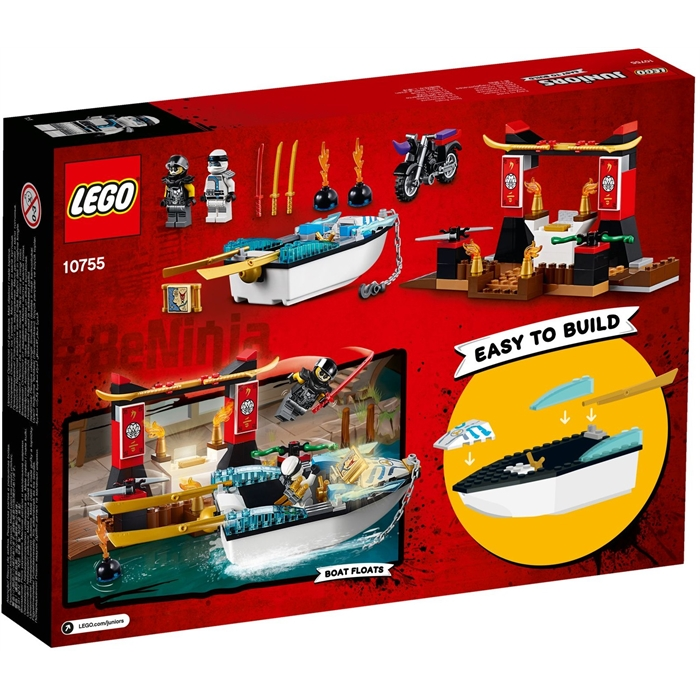 Lego 10755 Juniors Zane' Ninja Boat Pursuit
