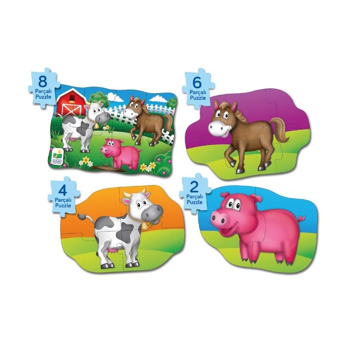 The Learning Journey 4 Puzzle Bir Arada - Çiftlik