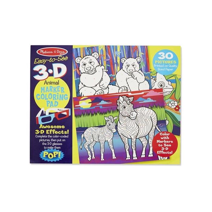 Melissa and Doug 3D Marker Boyama Kitabı - Hayvanlar