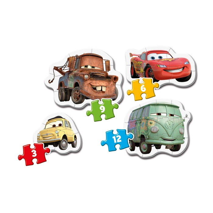 Clementoni My First Puzzle Cars 3 (3+6+9+12 Parça)