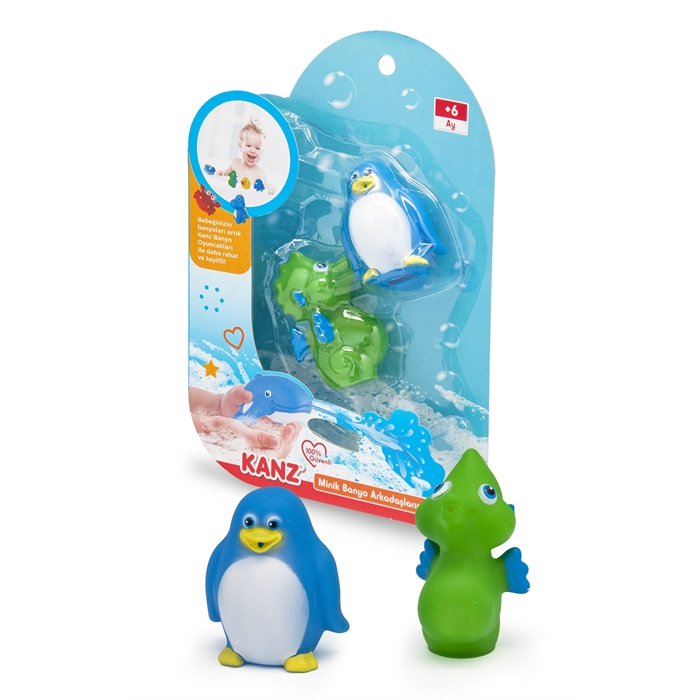 Kanz Minik Banyo Arkadaşlarım Deniz Atı - Penguen