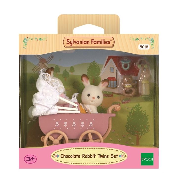 Sylvanian Families İkiz Tavşan Bebekler ve Bebek Arabası 5018