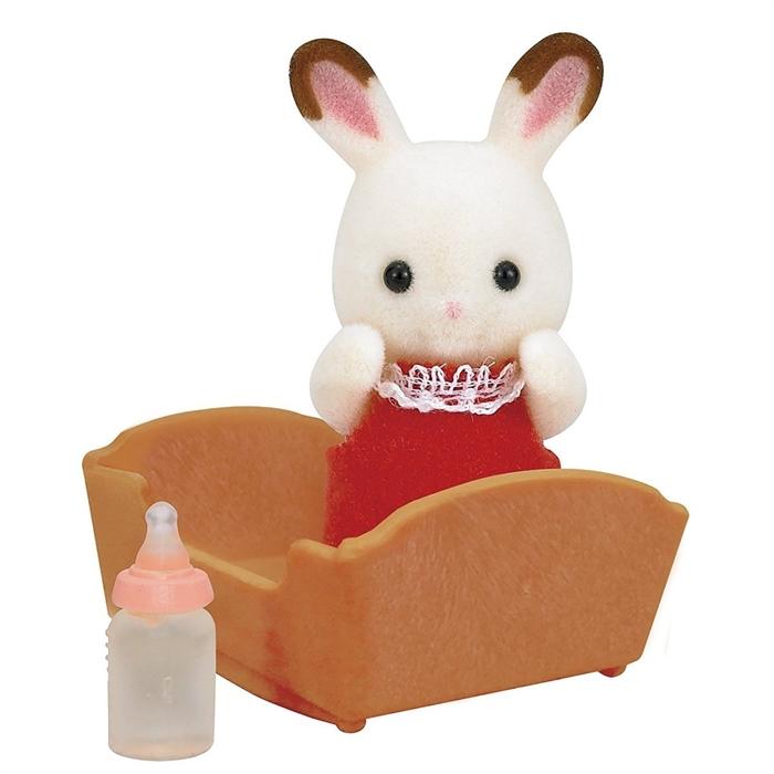 Sylvanian Families Çikolata Kulaklı Tavşan Bebek ve Beşiği 5062
