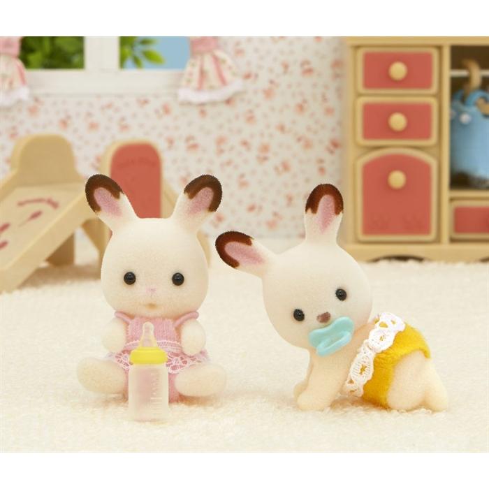 Sylvanian Families Çikolata Kulaklı İkiz Tavşan Bebekler 5080