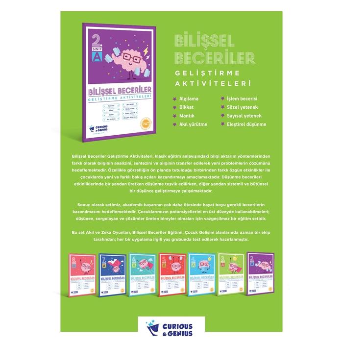 2.Sınıf - Bilişsel Beceriler Geliştirme Aktiviteleri Seti (A-B-C seri)