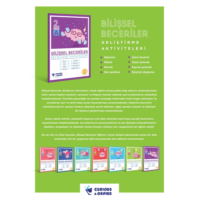 8.Sınıf - Bilişsel Beceriler Geliştirme Aktiviteleri Seti (A-B-C seri)