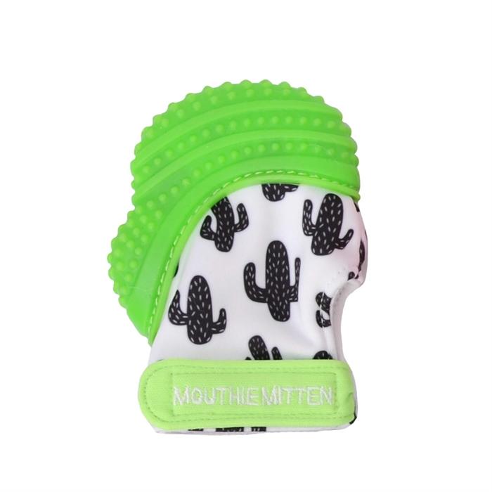 Mouthie Mitten Diş Kaşıyıcı Eldiven - Yeşil Kaktüs