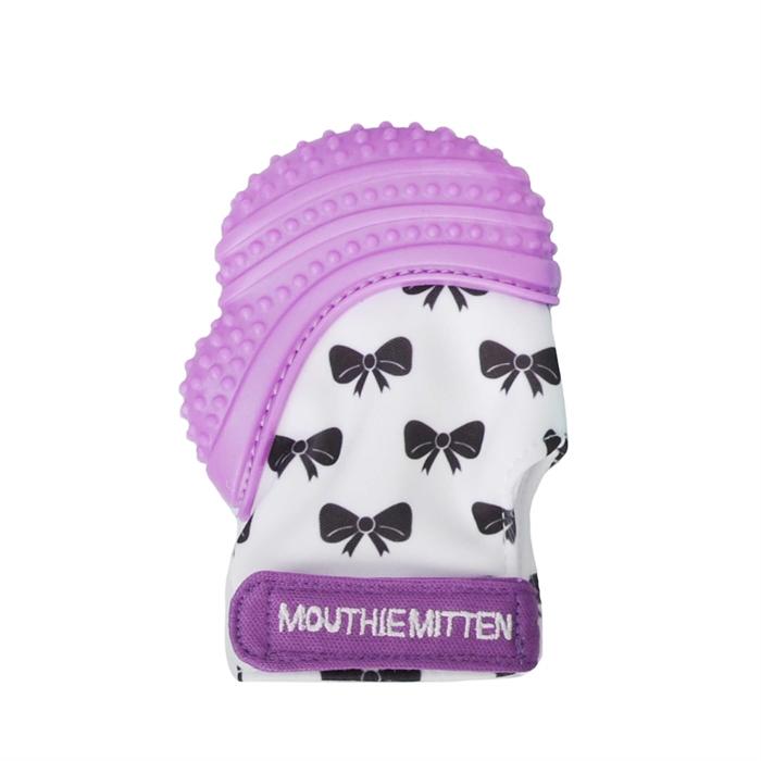 Mouthie Mitten Diş Kaşıyıcı Eldiven - Mor Fiyonk