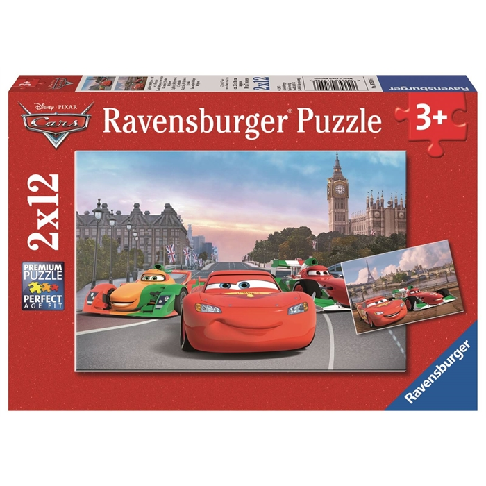 Ravensburger 2x12 Parçalı Puzzle Walt Disney Cars McQueen - 075546
