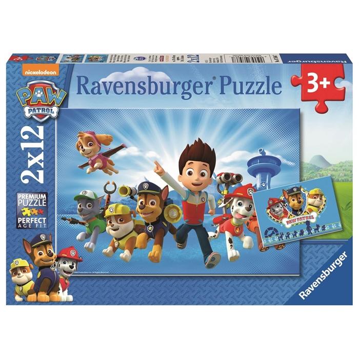 Ravensburger 2x12 Parçalı Puzzle Paw Patrol - 075867