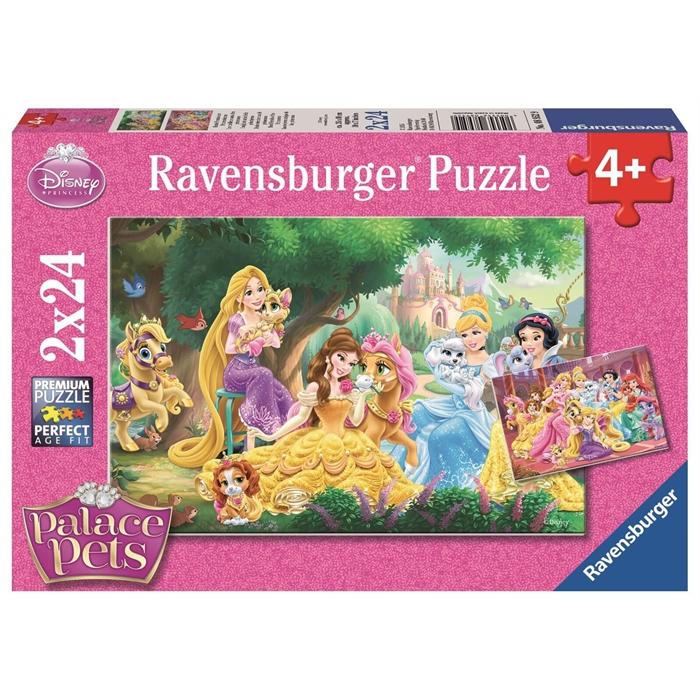 Ravensburger 2x24 Parçalı Puzzle Prenses´in Arkadasları - 089529