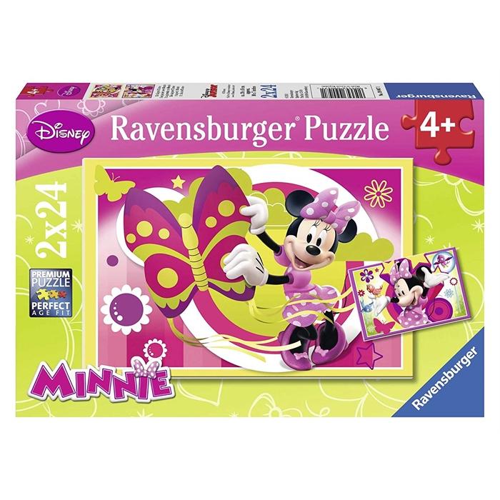 Ravensburger 2x24 Parçalı Puzzle Walt Disney Minnie ile Bir Gün - 090471