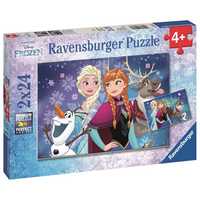 Ravensburger 2x24 Parçalı Puzzle Walt Disney Frozen Kuzey Işıkları - 090747