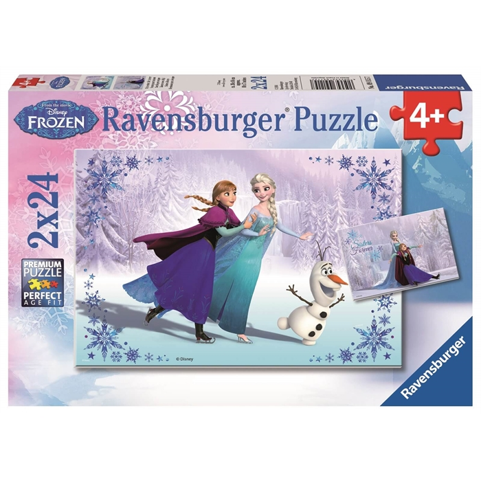 Ravensburger 2x24 Parçalı Puzzle Walt Disney Frozen - 091157