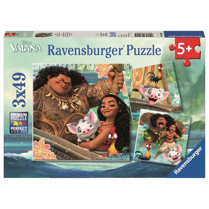 Ravensburger 3x49 Parçalı Puzzle Walt Disney Moana - 080045