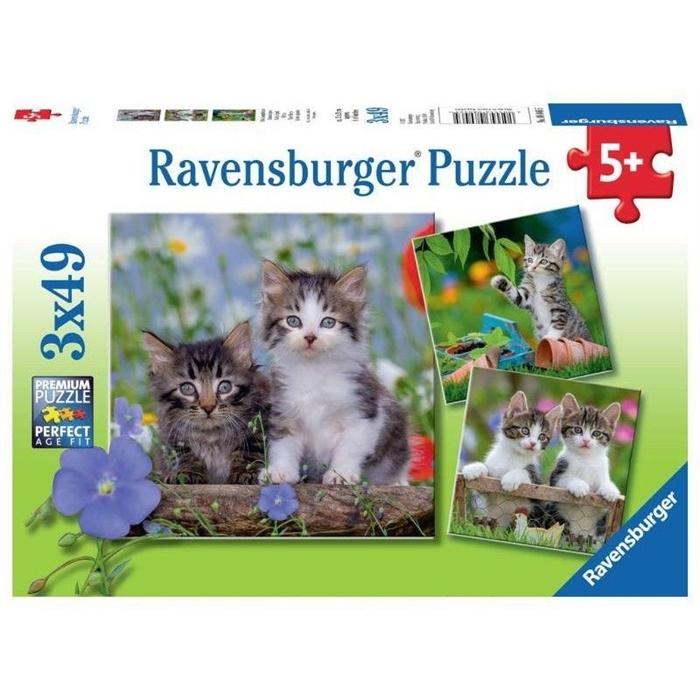 Ravensburger 3x49 Parçalı Puzzle Tiger Babies - 080465