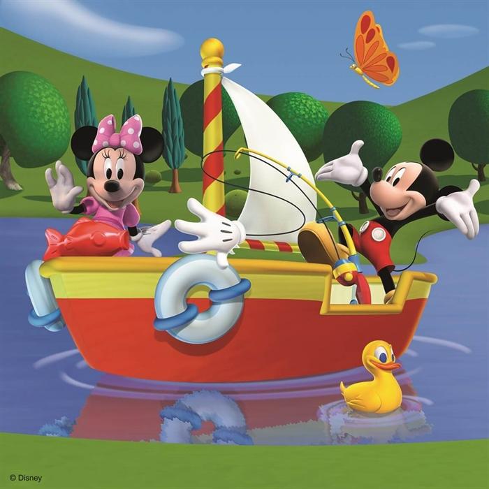 Ravensburger 3x49 Parçalı Puzzle Walt Disney - MickeyClubHouse - 092475