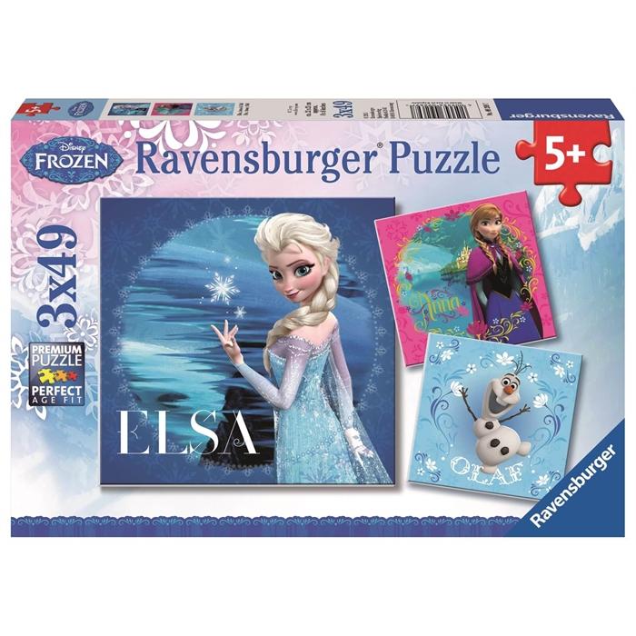 Ravensburger 3x49 Parçalı Puzzle Walt Disney Frozen - 092697