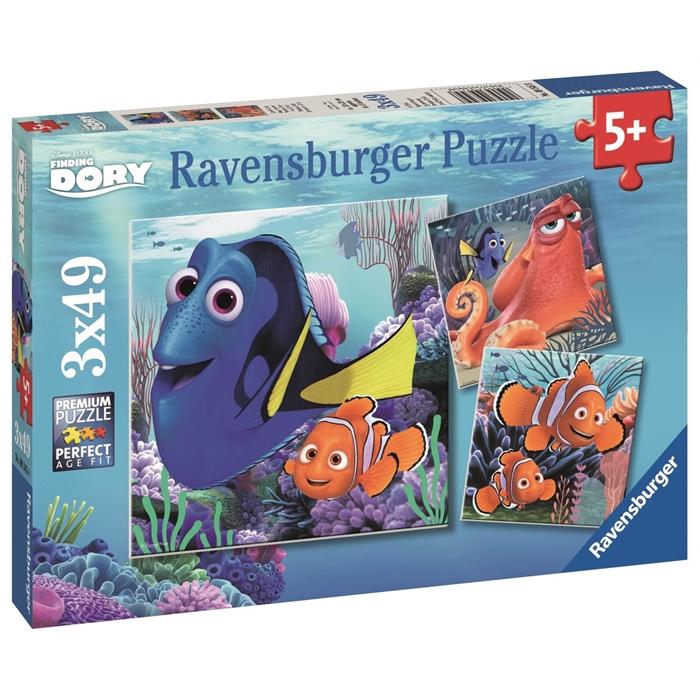 Ravensburger 3x49 Parçalı Puzzle Walt Disney F Dory - 093458