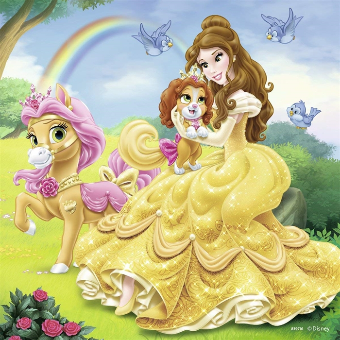 Ravensburger 3x49 Parçalı Puzzle Walt Disney Belle Cinderella Rapunzel - 093465