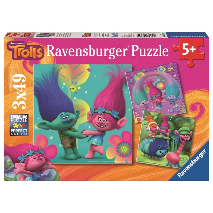 Ravensburger 3x49 Parçalı Puzzle Trolls - 093649