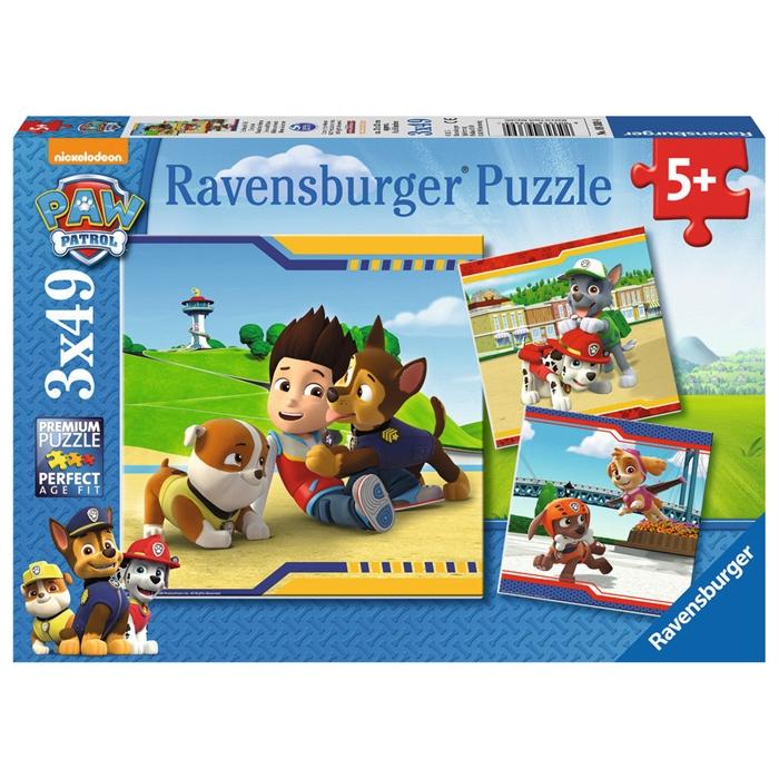 Ravensburger 3x49 Parçalı Puzzle PawPetrol Kahramanlar - 093694
