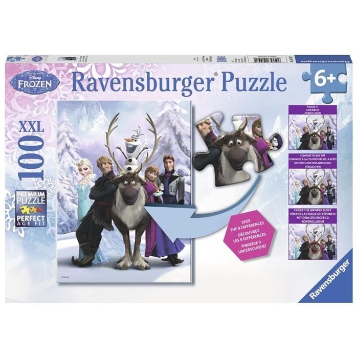 Ravensburger Süper 100 Parçalı PuzzleWalt DisneyFrozen Difference - 105571