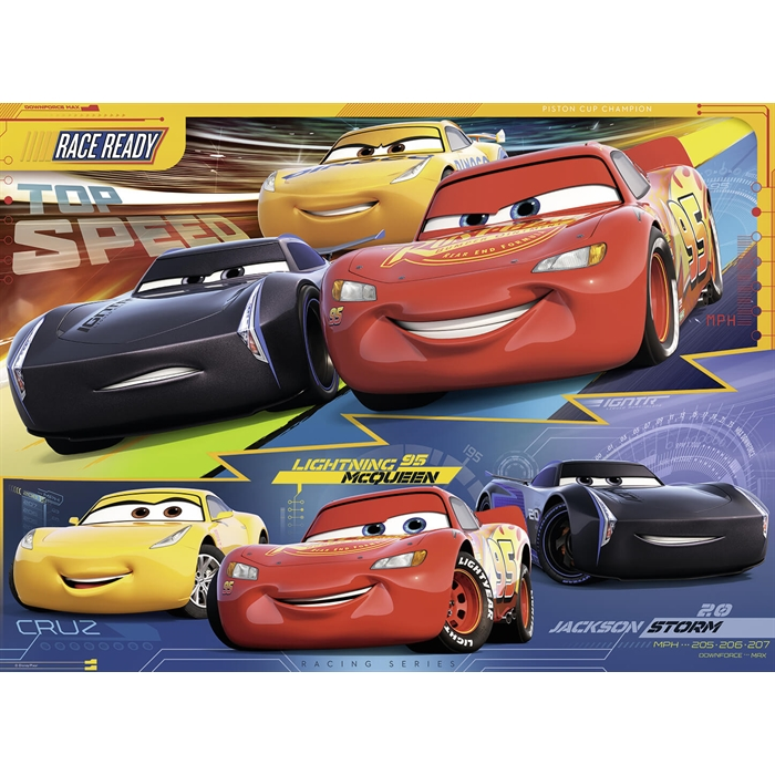 Ravensburger 100 Parçalı Puzzle Walt Disney Cars3 - 109616