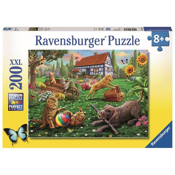 Ravensburger 200 Parçalı XXL Puzzle Bahçede - 128280