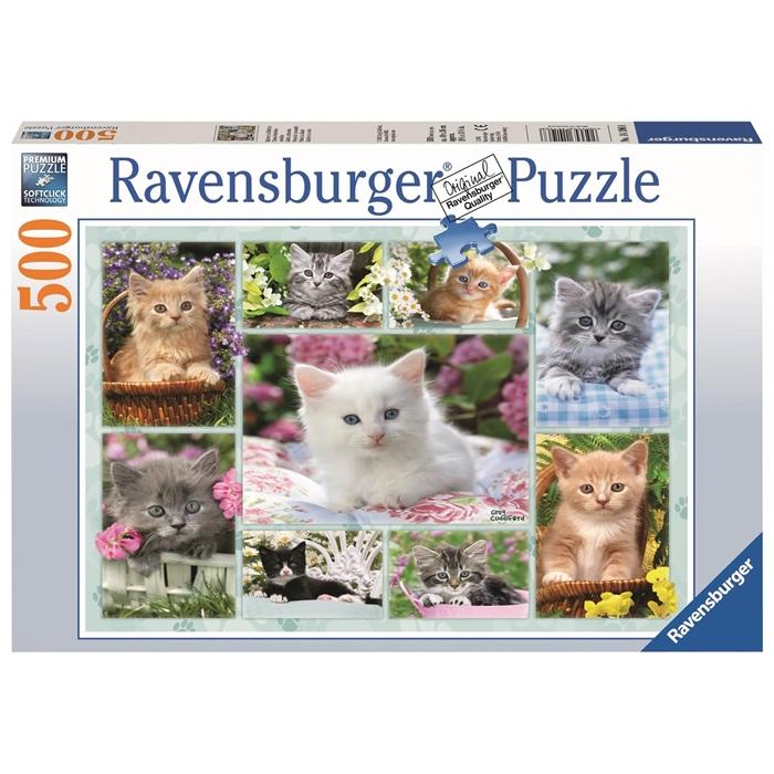 Ravensburger 500 Parçalı Puzzle Sepette Kedi - 141968
