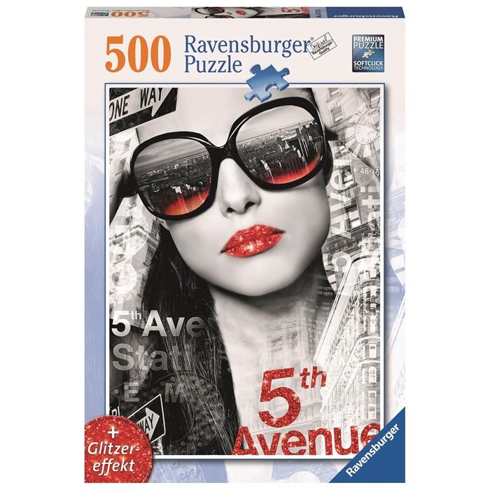 Ravensburger 500 Parçalı Puzzle 5. Cadde Önünde (Işıltılı Dudaklar) - 147137