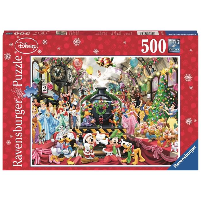 Ravensburger 500 Parçalı Puzzle Walt Disney Xmas Train - 147397