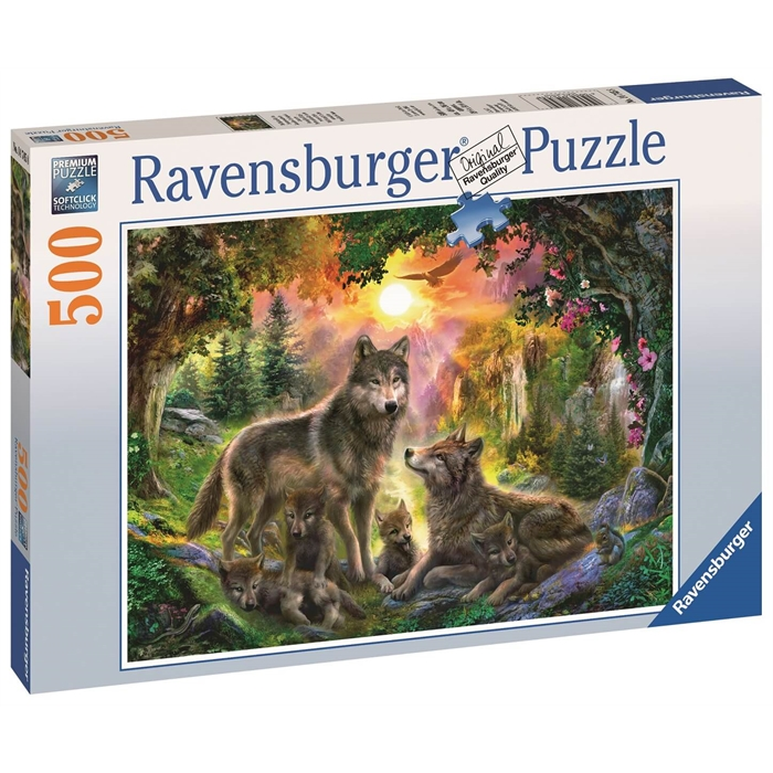 Ravensburger 500 Parçalı Puzzle Kurt Ailesi - 147458